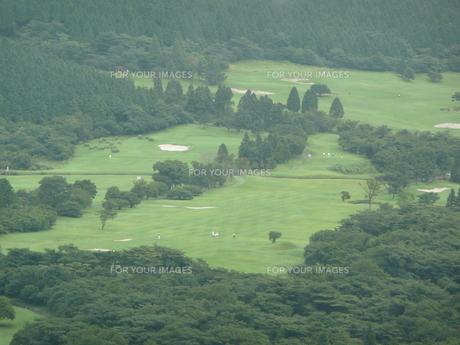 霧のゴルフ場の写真素材 [FYI00121415]