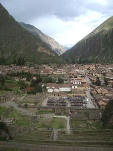 ペルーの山村の写真素材 [FYI00121491]