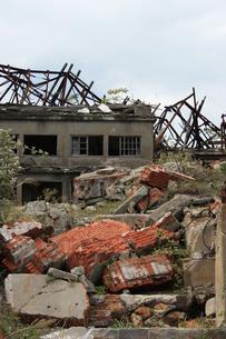 長崎 軍艦島の炭鉱跡の写真素材 [FYI00121514]