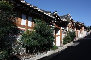 ソウル 北村の伝統的韓屋の写真素材 [FYI00121584]