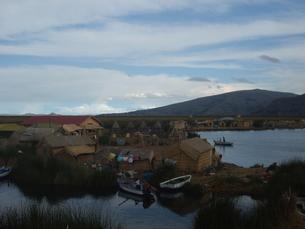 ペルー チチカカ湖の写真素材 [FYI00121587]