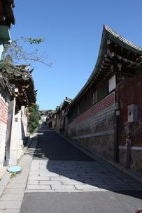 ソウル 北村の伝統的韓屋の写真素材 [FYI00121588]
