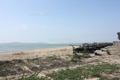 中国との国境 台湾・金門島の写真素材 [FYI00121646]