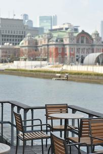 欧羅巴な風景 セーヌ河畔風中之島 カフェスタイルの写真素材 [FYI00121901]