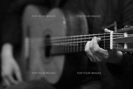 ヒト・イキイキ ギター・プレイの写真素材 [FYI00121916]