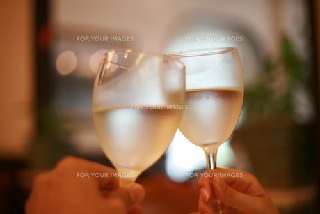 ワイングラスで乾杯の写真素材 [FYI00122046]
