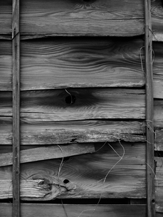 古い木目の木の板の壁の素材 [FYI00122067]