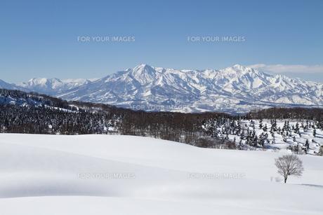 雪山の写真素材 [FYI00122385]
