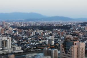 福岡タワーからの夕焼けの写真素材 [FYI00122807]
