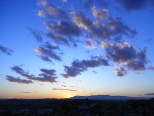 夕暮れの大空の写真素材 [FYI00123013]