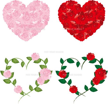 薔薇のハートの写真素材 [FYI00123255]