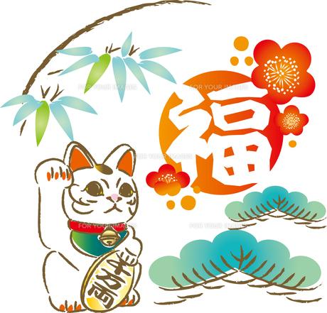 招き猫の写真素材 [FYI00123270]