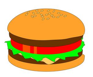 ハンバーガーの写真素材 [FYI00123294]