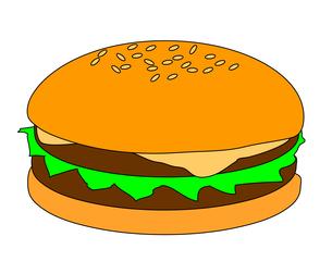 ハンバーガーの写真素材 [FYI00123296]