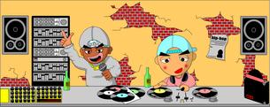 DJとラッパーの写真素材 [FYI00123297]