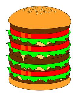 ハンバーガーの写真素材 [FYI00123304]