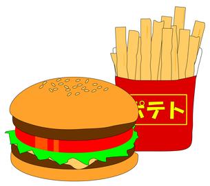 ハンバーガーとフライドポテトの写真素材 [FYI00123315]