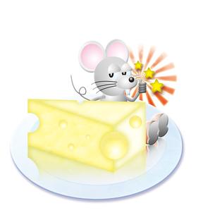 このチーズ3つ星の写真素材 [FYI00123741]