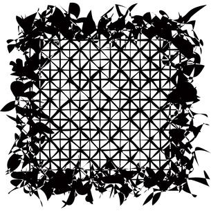 網のシルエットの写真素材 [FYI00123756]