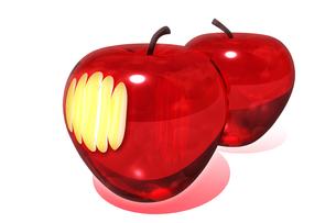 ガラスのりんごの写真素材 [FYI00123758]