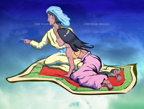 アラジンと魔法の絨毯の写真素材 [FYI00123778]