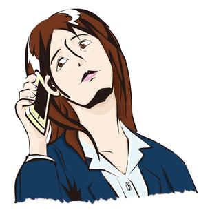 電話に出るビジネスウーマンの写真素材 [FYI00123780]