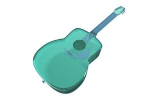 クリアなギターの写真素材 [FYI00123784]