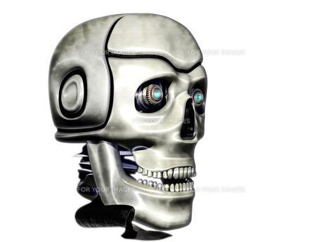 サイボーグの頭の写真素材 [FYI00123785]