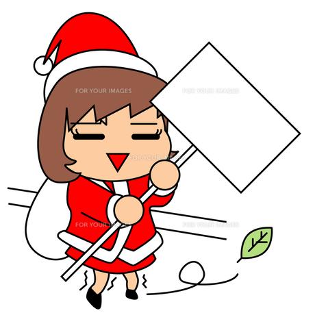 クリスマスにアルバイトの写真素材 [FYI00123809]