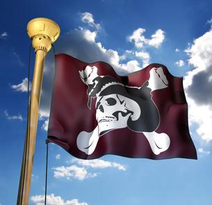 海賊旗の写真素材 [FYI00123830]