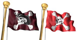 海賊旗セットの写真素材 [FYI00123832]
