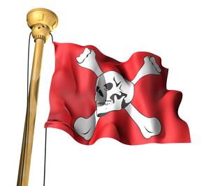 海賊旗の写真素材 [FYI00123833]