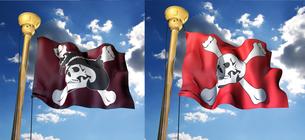 海賊旗セットの写真素材 [FYI00123835]