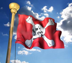 海賊旗の写真素材 [FYI00123836]