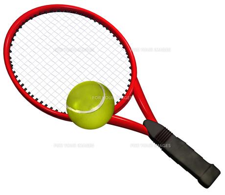 テニスラケットの写真素材 [FYI00123970]