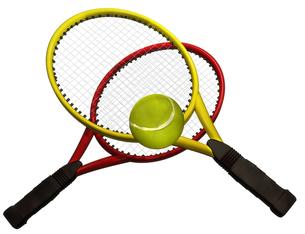 テニスラケットセットの写真素材 [FYI00123977]