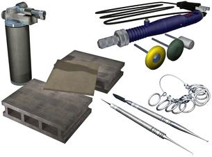 シルバーアクセサリー製作セットの写真素材 [FYI00124033]