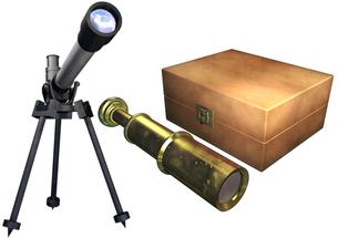 望遠鏡セットの写真素材 [FYI00124060]