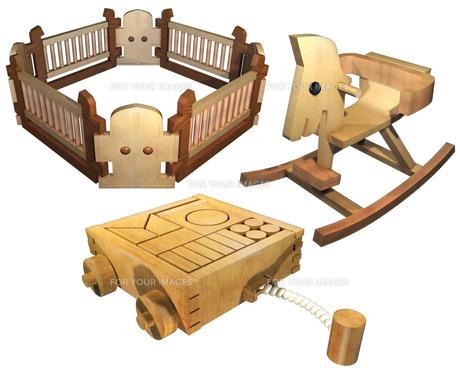 子供のおもちゃセットの写真素材 [FYI00124063]