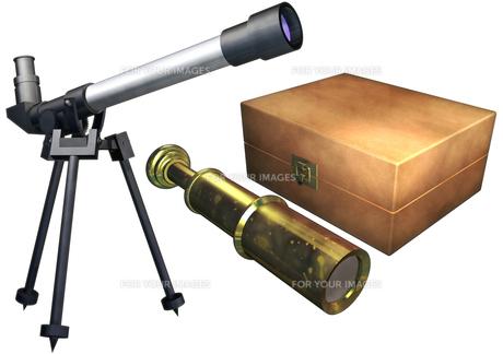 望遠鏡セットの写真素材 [FYI00124082]