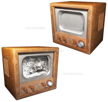 昔のテレビセットの写真素材 [FYI00124083]