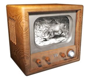 昔のテレビの写真素材 [FYI00124084]