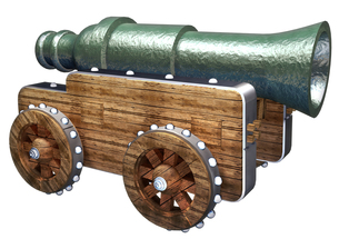 大砲の写真素材 [FYI00124127]