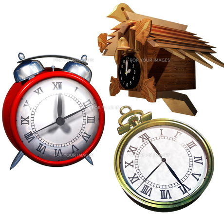 時計セットの写真素材 [FYI00124163]