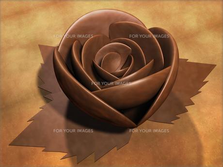 チョコレートのバラの素材 [FYI00124203]