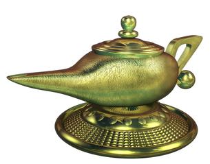 魔法のランプの写真素材 [FYI00124263]