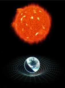 地球と太陽の写真素材 [FYI00124338]