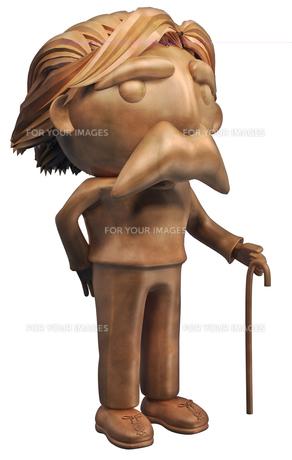 木製人形の写真素材 [FYI00124349]