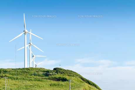 風力発電所の写真素材 [FYI00124880]