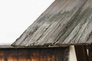 武家屋敷の小屋の板河原の写真素材 [FYI00124917]